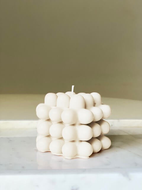 Le Lit Buble Candle in Ivory from The New Trend