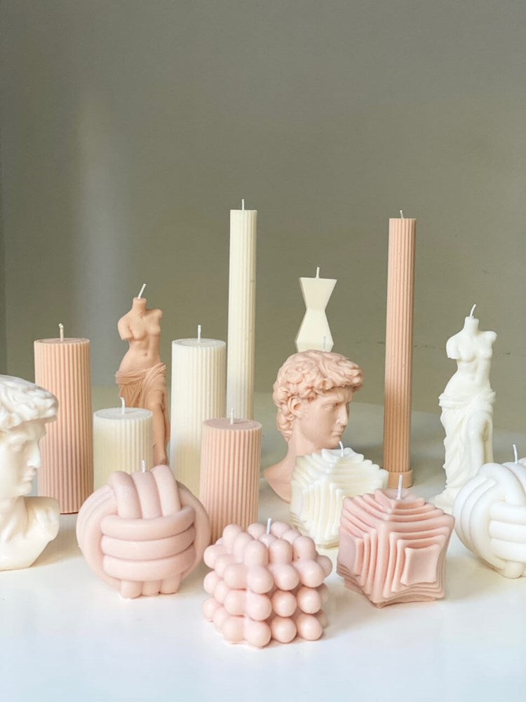 Le Lit Pillar Candles in Ivory from The New Trend