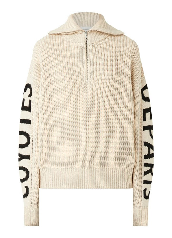 Les Coyotes de Paris Roxy Pullover in Beige Melange from The New Trend