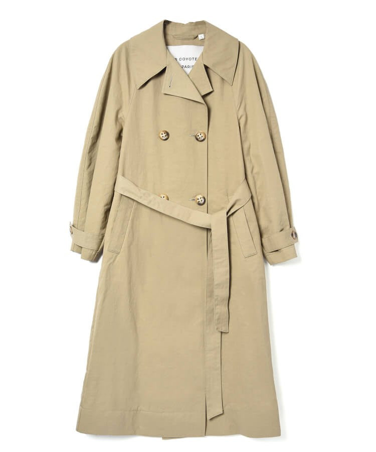 Les Coyotes de Paris Ruby Trench in Sage from The New Trend