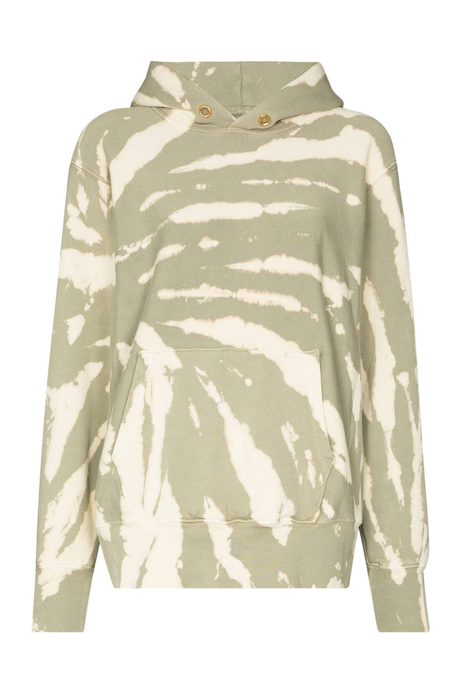 Les Tien Cropped Hoodie Sage Tie Dye from The New Trend
