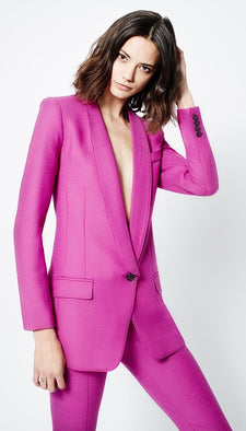 Smythe Long Shawl Blazer in Violet from The New Trend