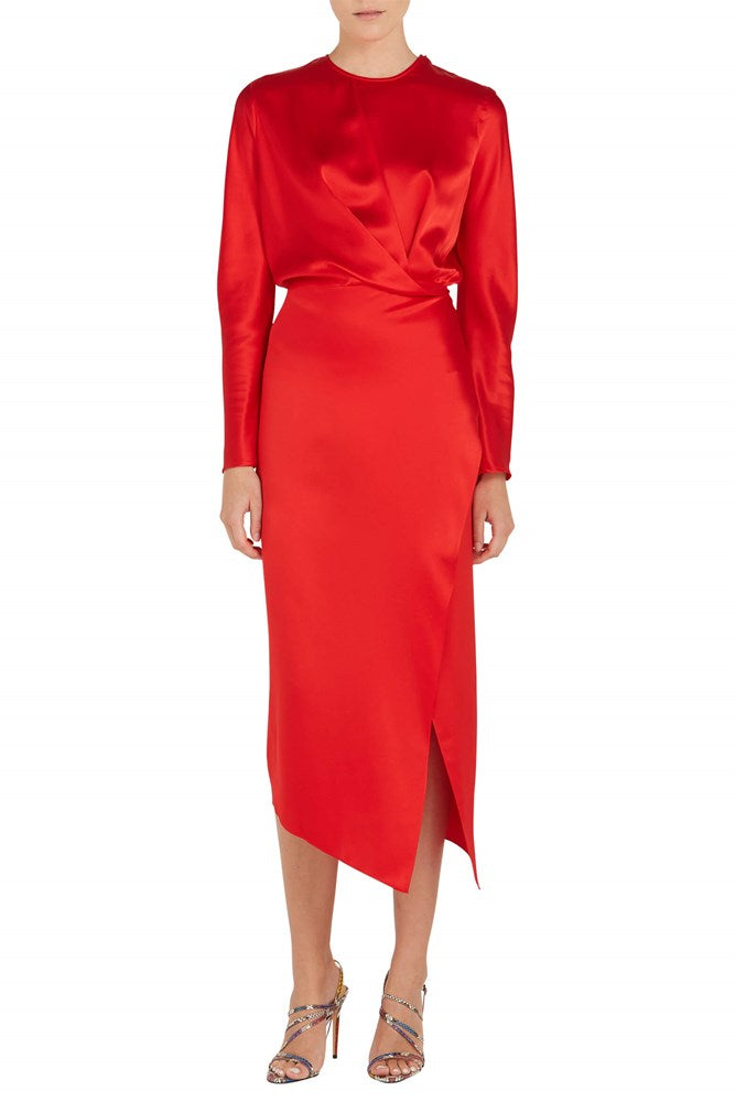 Michelle Mason Origami Midi Dress in Red from The New Trend