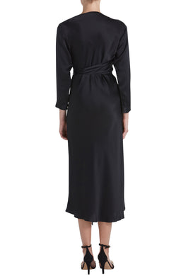ASYMMETRIC DRESS W/TIE