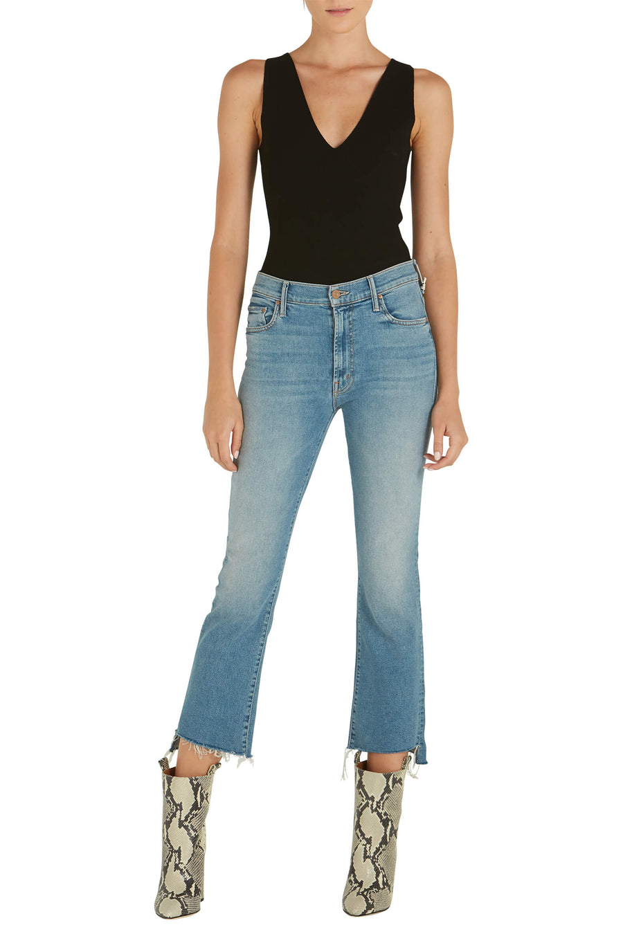 Mother Denim Insider Crop Step Fray Denim Jeans from The New Trend.