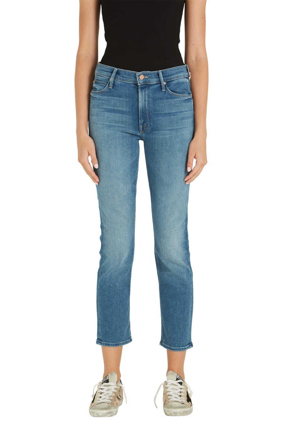 Mother Denim Mid Rise Dazzler Ankle Denim Jean from The New Trend