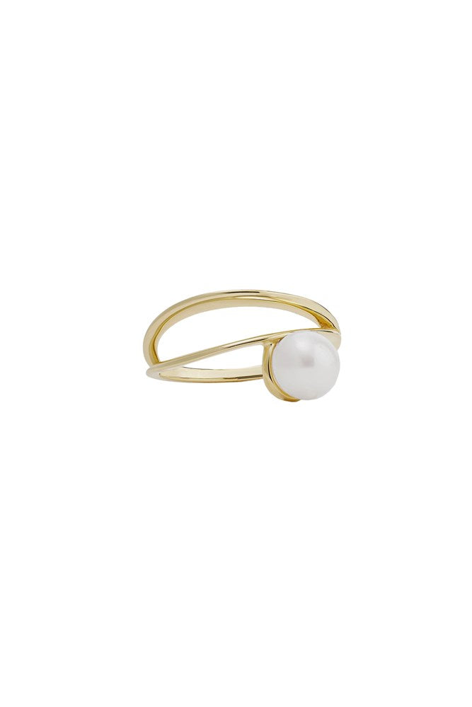 Natasha Schweitzer Double Band Pearl Ring from The New Trend