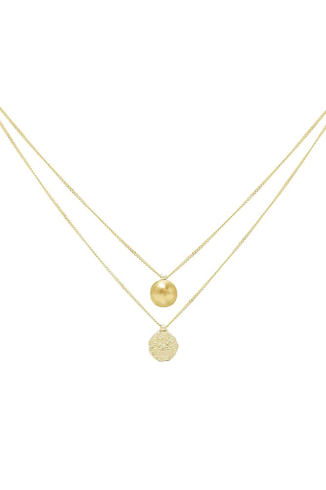 Natasha Schweitzer Double Chain Necklace 9K gold from The New Trend