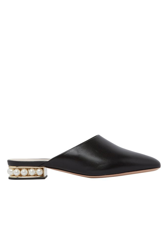 Nicholas Kirkwood 18mm Casati Pearl Slipper Black The New Trend Default