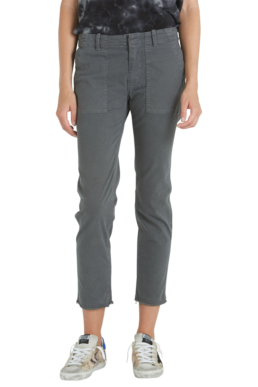 Nili Lotan Jenna Pant in Charcoal from The New Trend