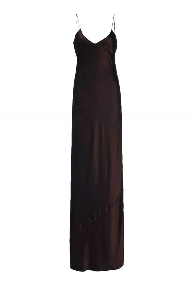 Nili Lotan Cami Gown in Espresso from The New Trend