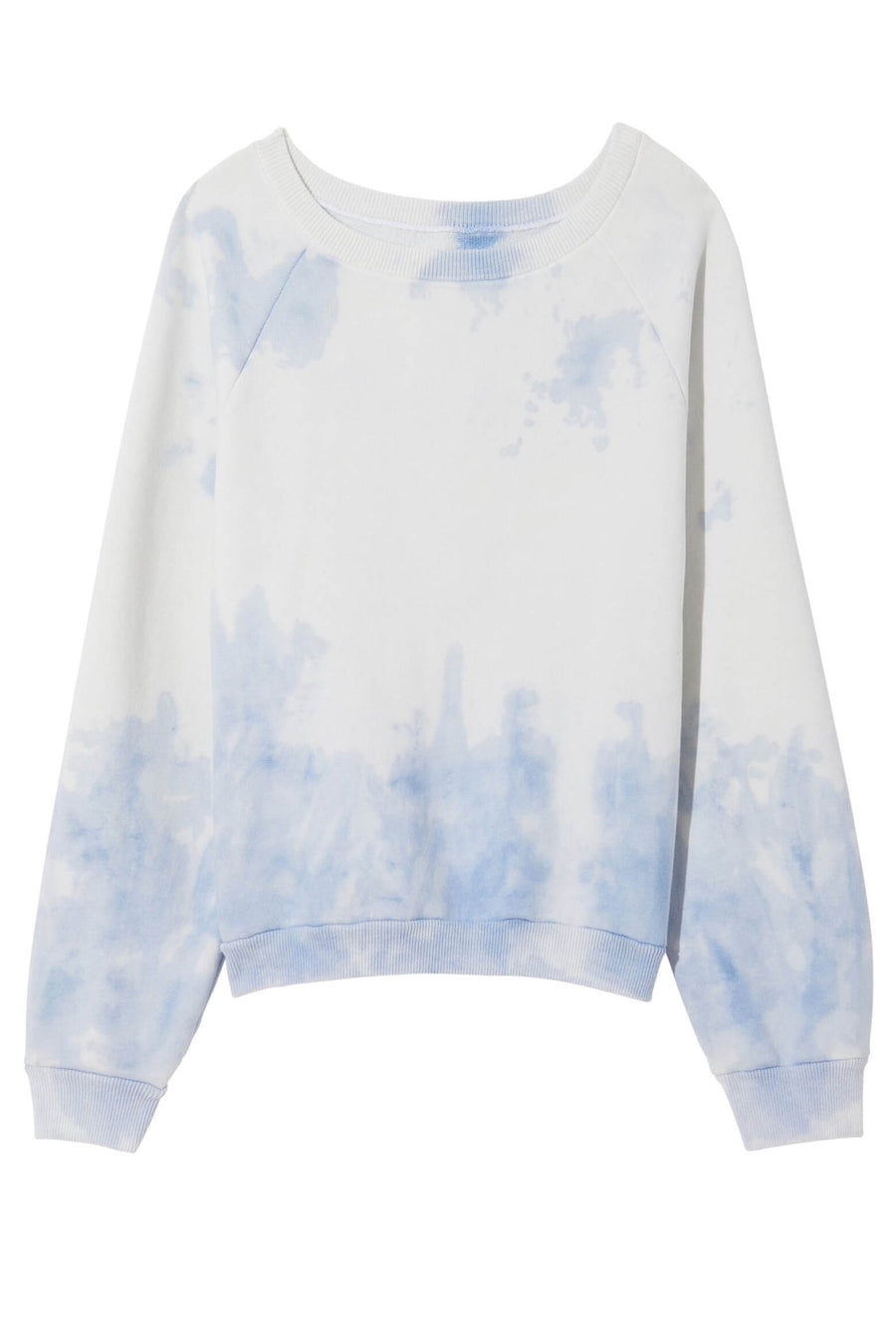 Nili Lotan Classic Crewneck Sweatshirt in Blue Tie Dye from The New Trend