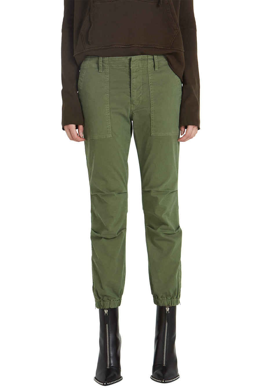 Nili Lotan Cropped Military Pant in Camo from The New Trend