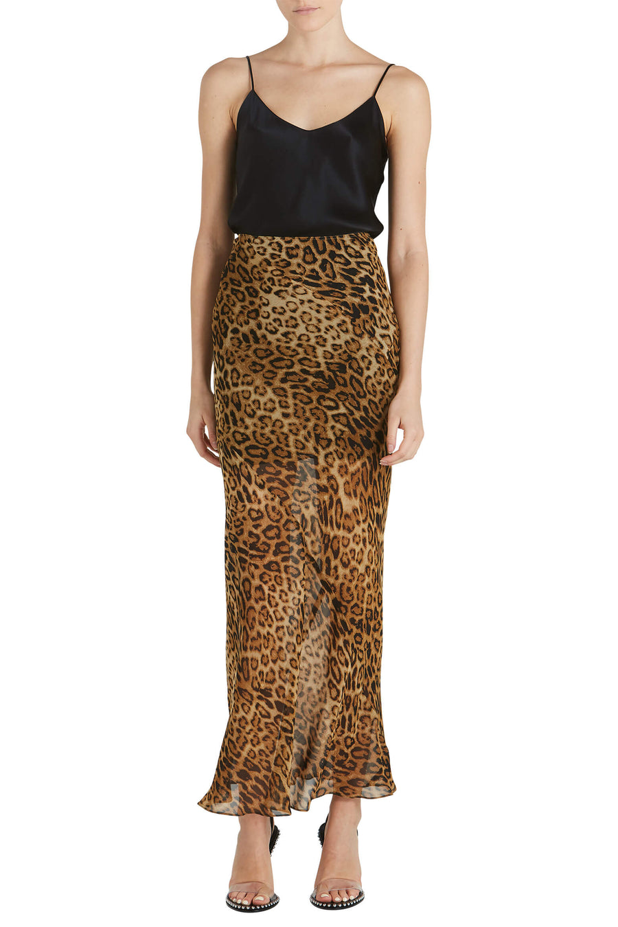 NIli Lotan Ella Skirt in Ginger Leopard from The New Trend