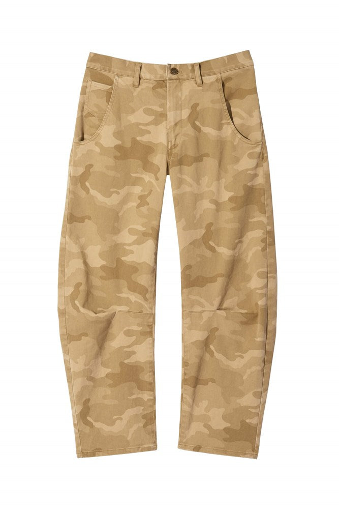 Nili Lotan Emerson Pant in Khaki Camo from The New Trend