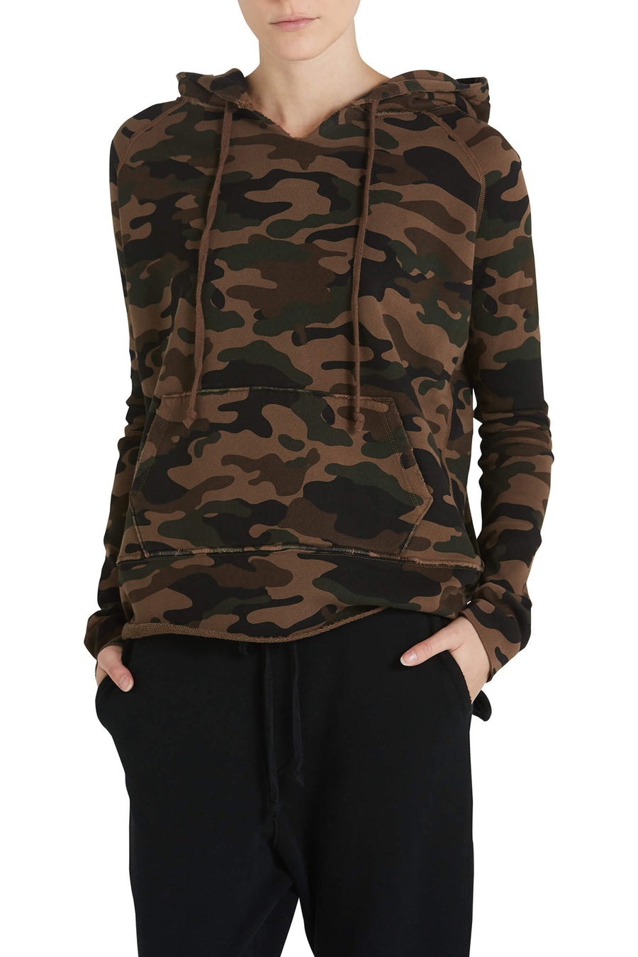 Nili Lotan Janie Hoodie in Brown Camouflage from The New Trend