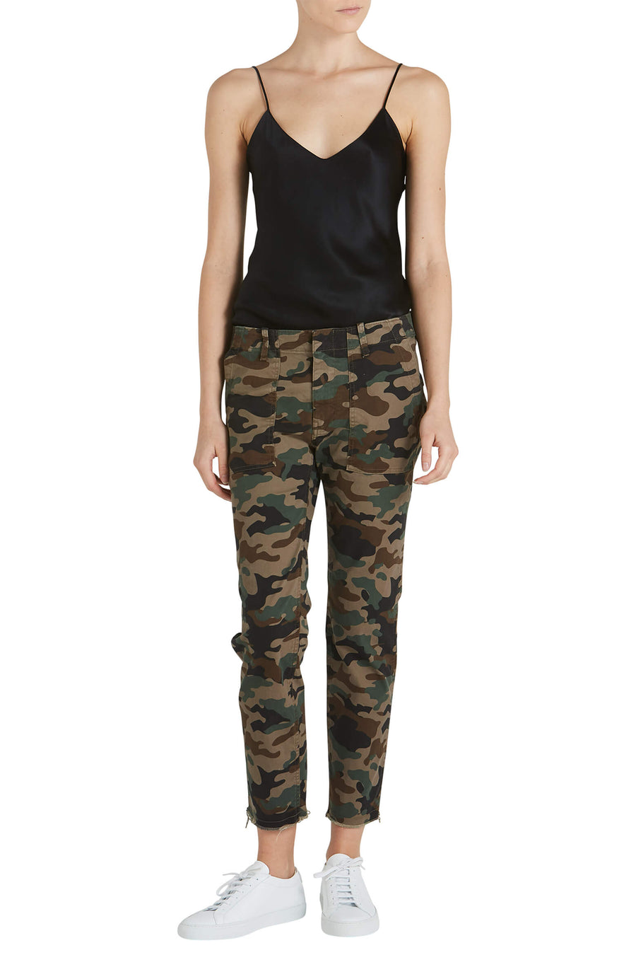 Nili Lotan Jenna Pant in Brown Camouflage from The New Trend