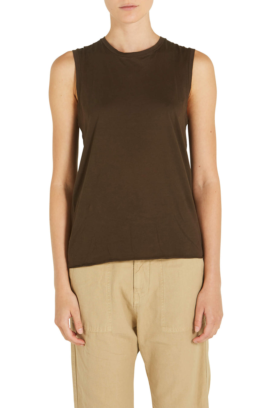 Nili Lotan Muscle Tee in Mocha from The New Trend