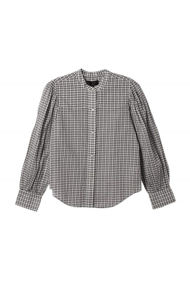 Nili Lotan Maisie Shirt in white check from The New Trend