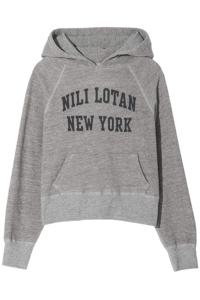 Nili Lotan New York Gracie Hoodie in Heather Grey from The New Trend