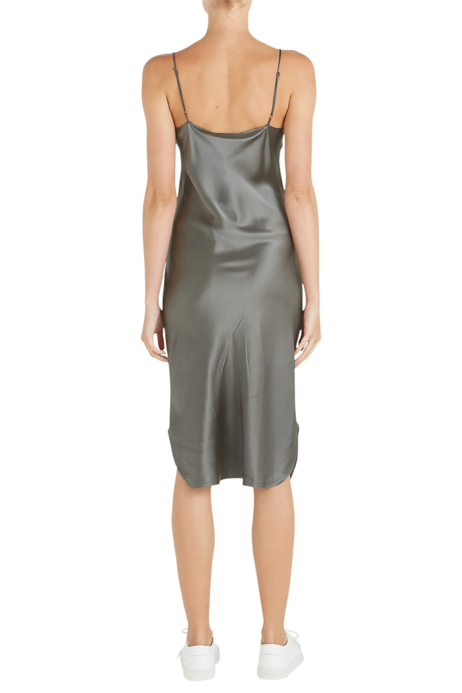 Nili Lotan Short Cami Dress in Gunmetal from The New Trend