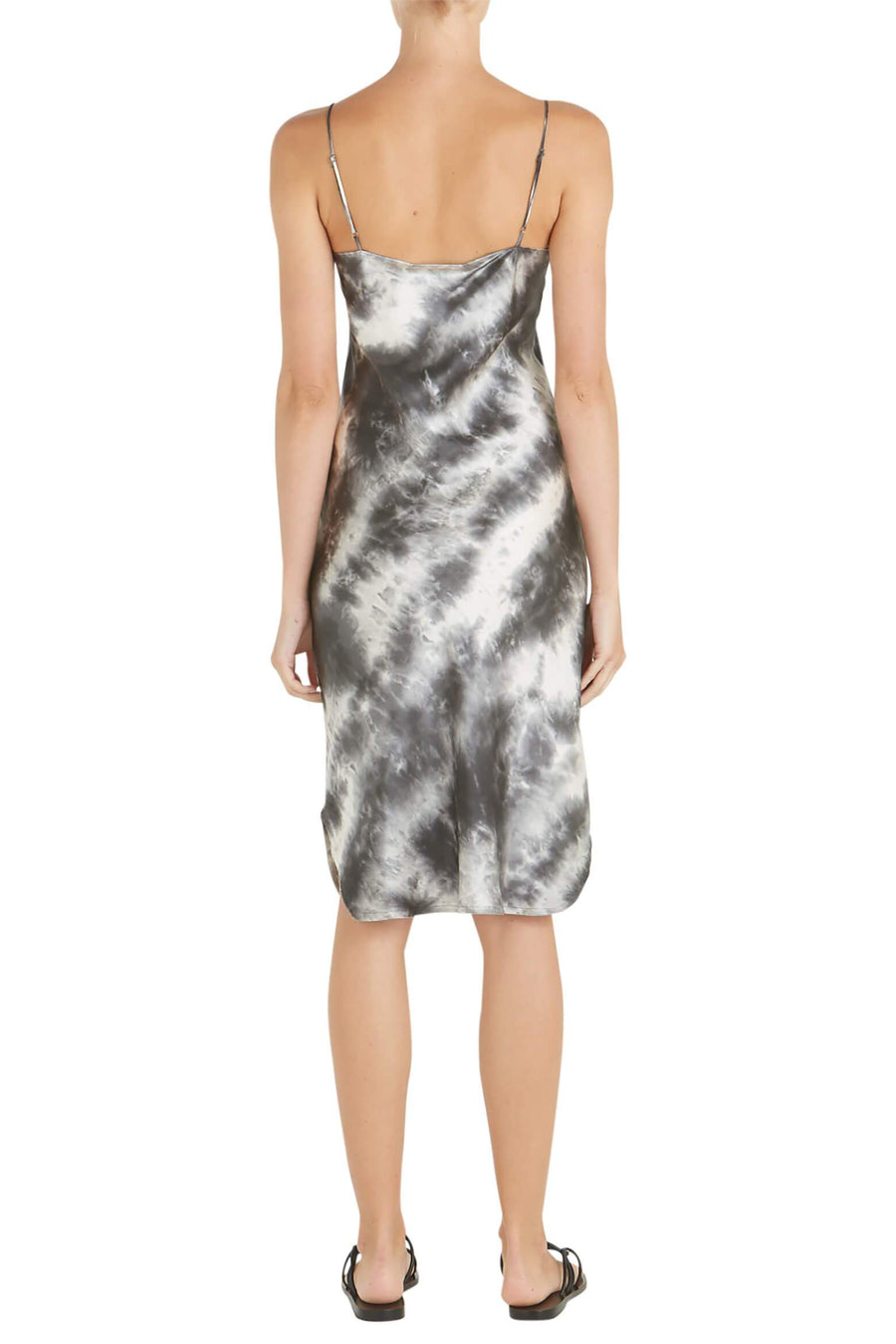Nili Lotan Short Cami Dress in Gunmetal Tie Dye from The New Trend