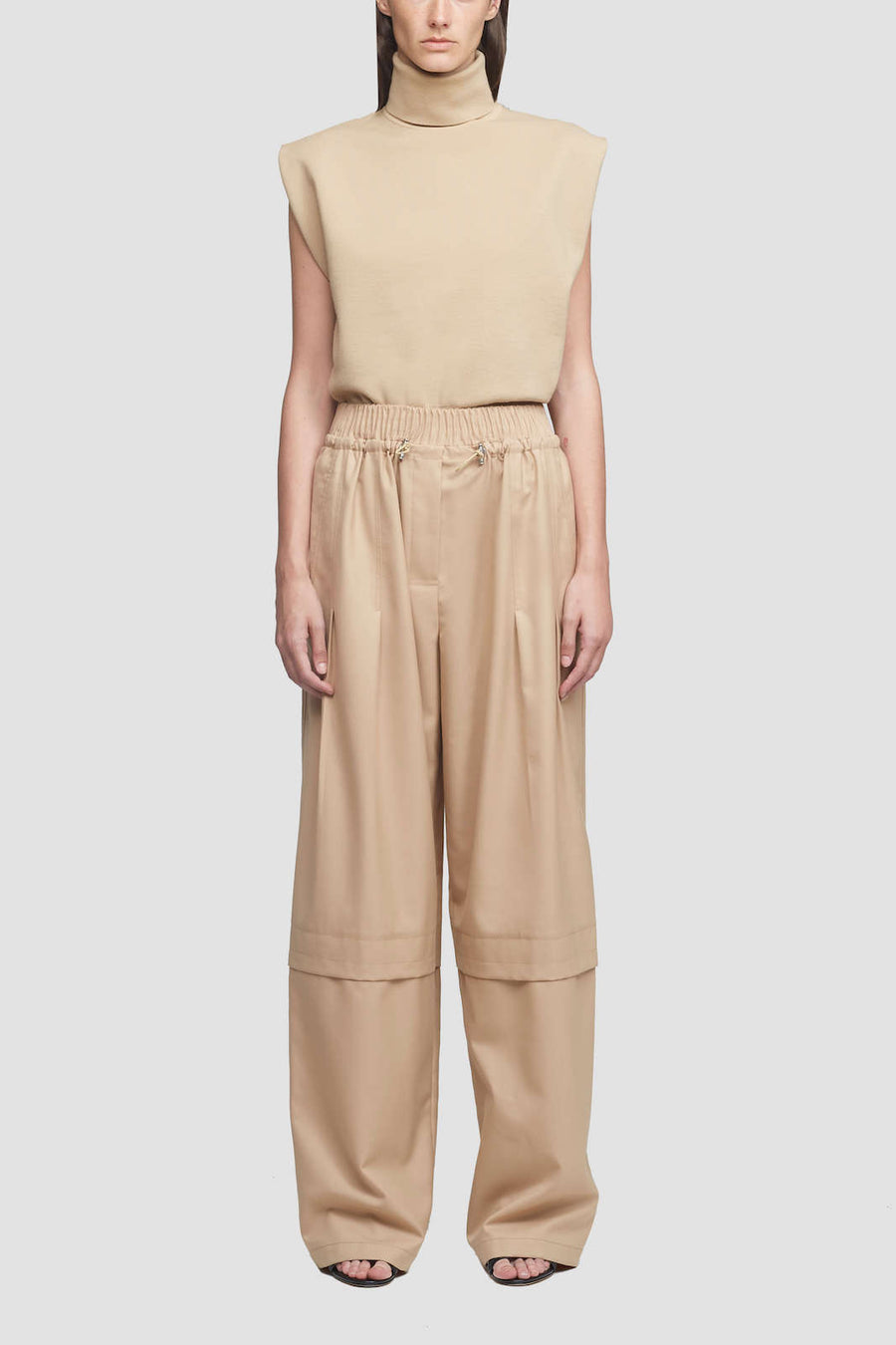 3.1 Phillip Lim Wool Serge Trouser in Fawn from The New Trend