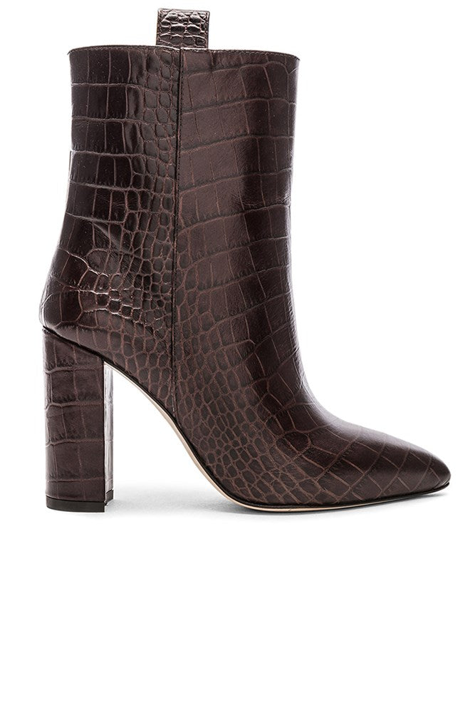 Paris Texas Ankle Boot in Dark Brown Choc from The New Trend