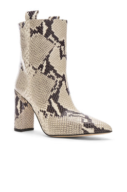 Paris Texas Ankle Boot Natural Snake from The New Trend Front View