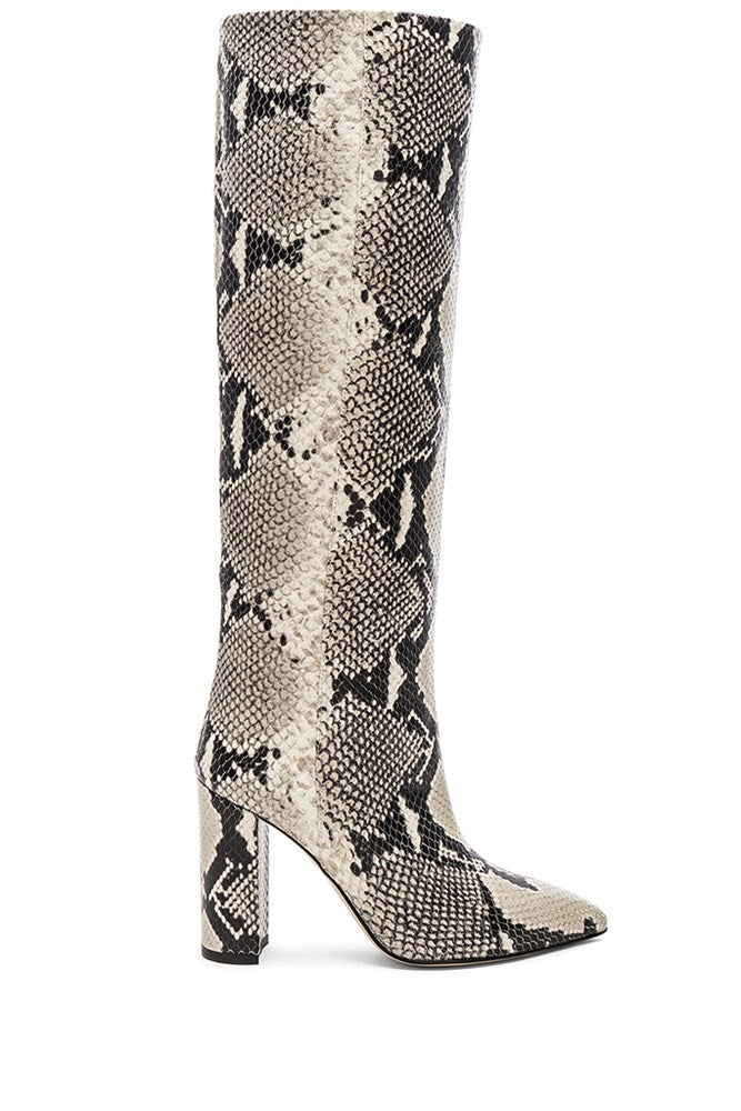 Paris Texas Tall Boots in Natural Snake from The New Trend