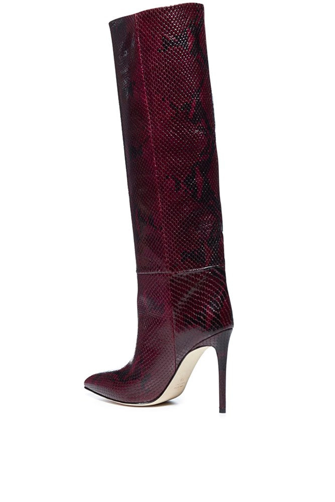 Paris Texas Tall Stiletto Boot in Aubergine from The New Trend Default