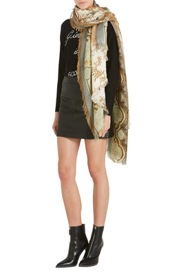Pierre-Louis Mascia Aloe Ultrawash Scarf in Golden from The New Trend
