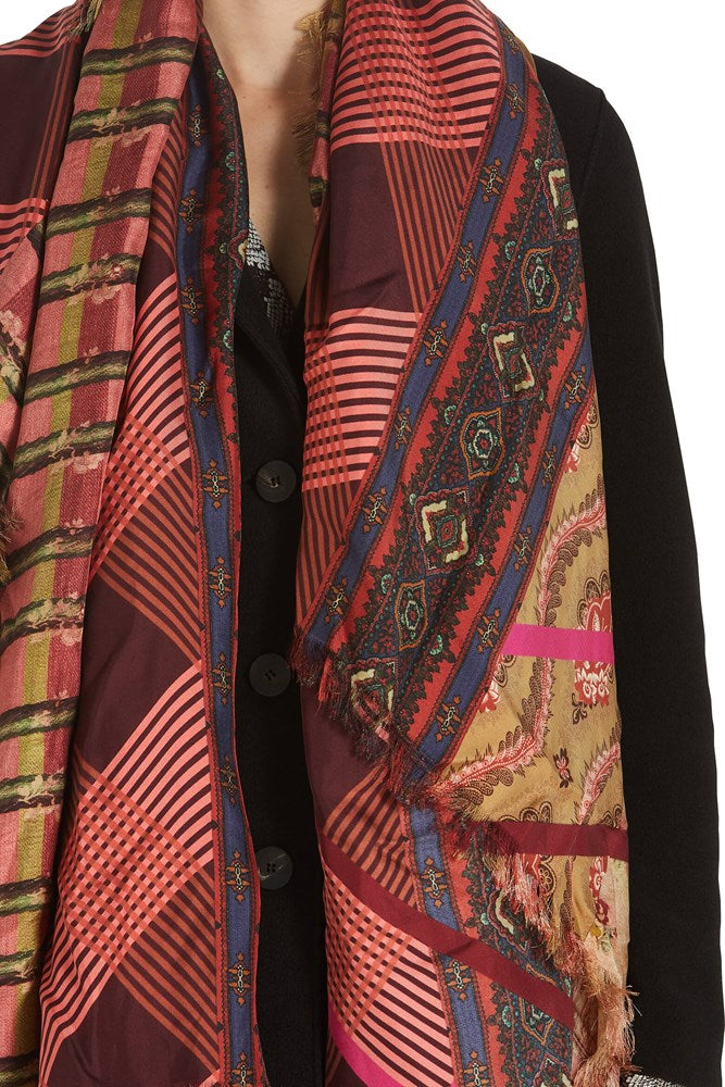 Pierre-Louis Mascia Aloe Ultrawash Pink Multi Scarf from The New Trend
