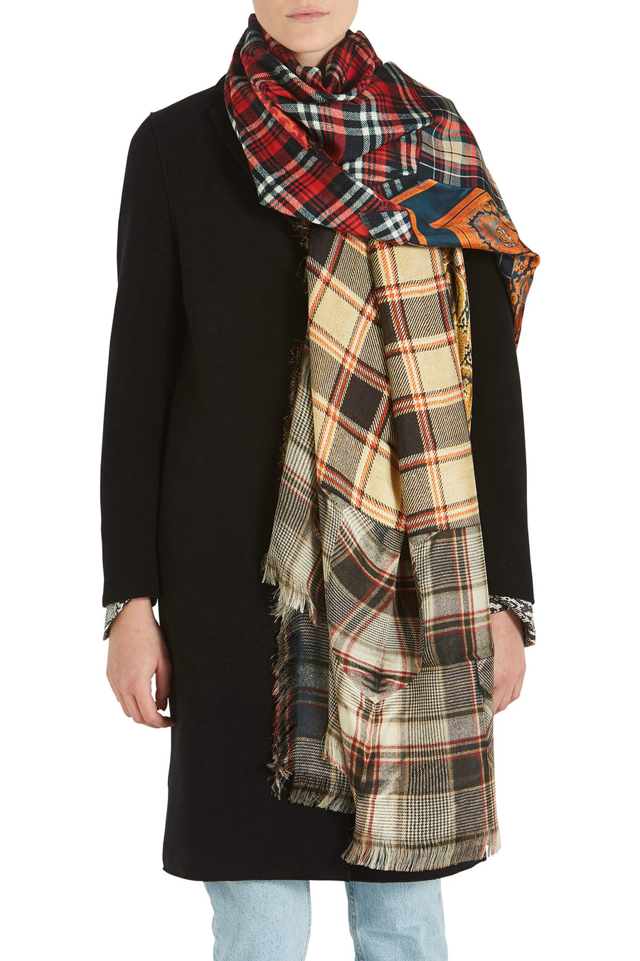 Pierre-Louis Mascia Tartan Scarf from The New Trend