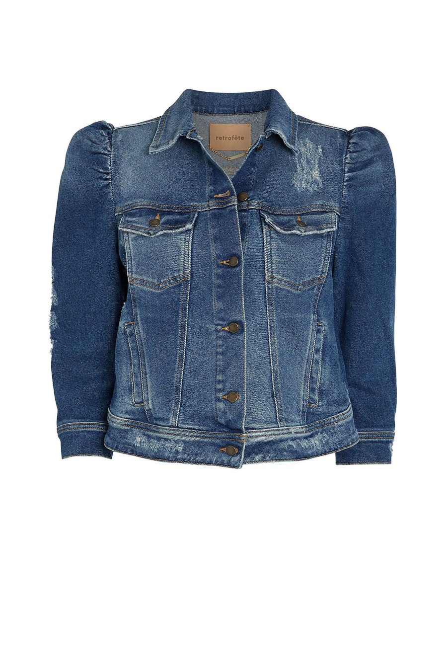 Retrofete Ada Jacket in Worn Vintage Blue available at The New Trend