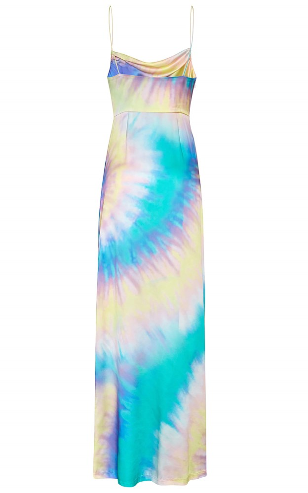 Retrofete Marlene Dress Tie Dye Silk Maxi from The New Trend