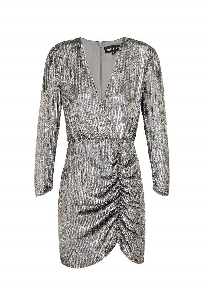 Rêtrofete Stacey Dress in Gunmetal from The New Trend