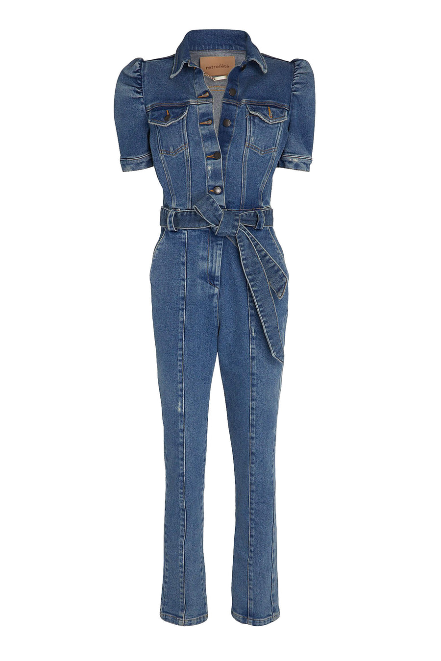 Retrofit Tori Denim Jumpsuit in Light Denim from The New Trend