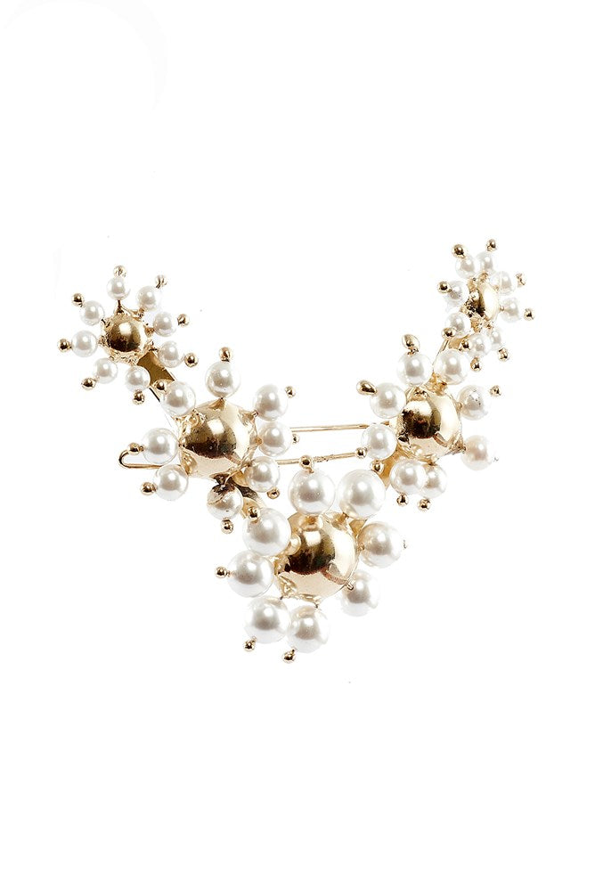 Rosantica Daisy Hair Clip in Gold White from The New Trend