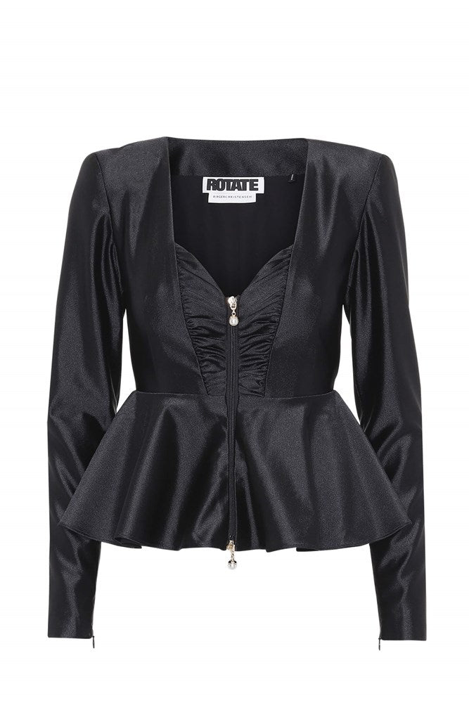 Rotate by Birger Christensen Annie Top in Black from The New Trend