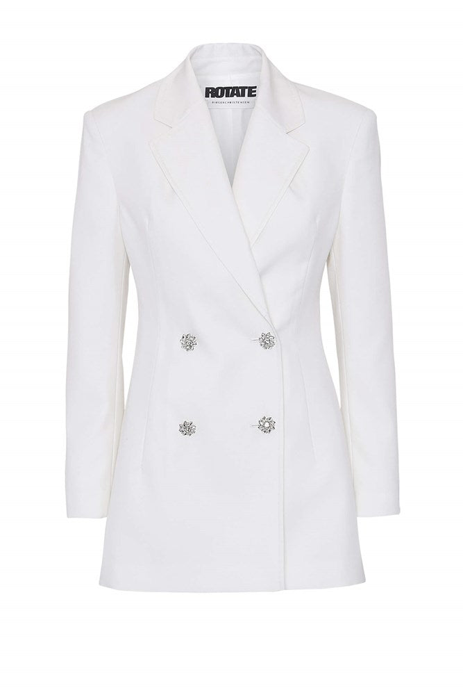 Rotate by Birger Christensen Fonda Blazer in White Asparagus from The New Trend
