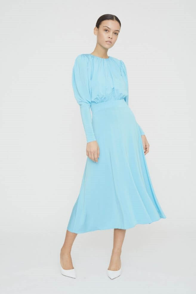 Rotate by Birger Christensen Laura Dress in Bachelor Button Comb from The New Trend