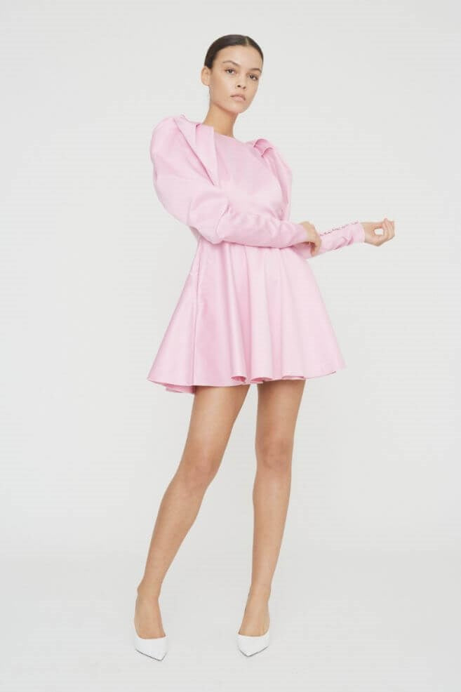 Rotate by Birger Christensen Pauline Dress in Prism Pink from The New Trend