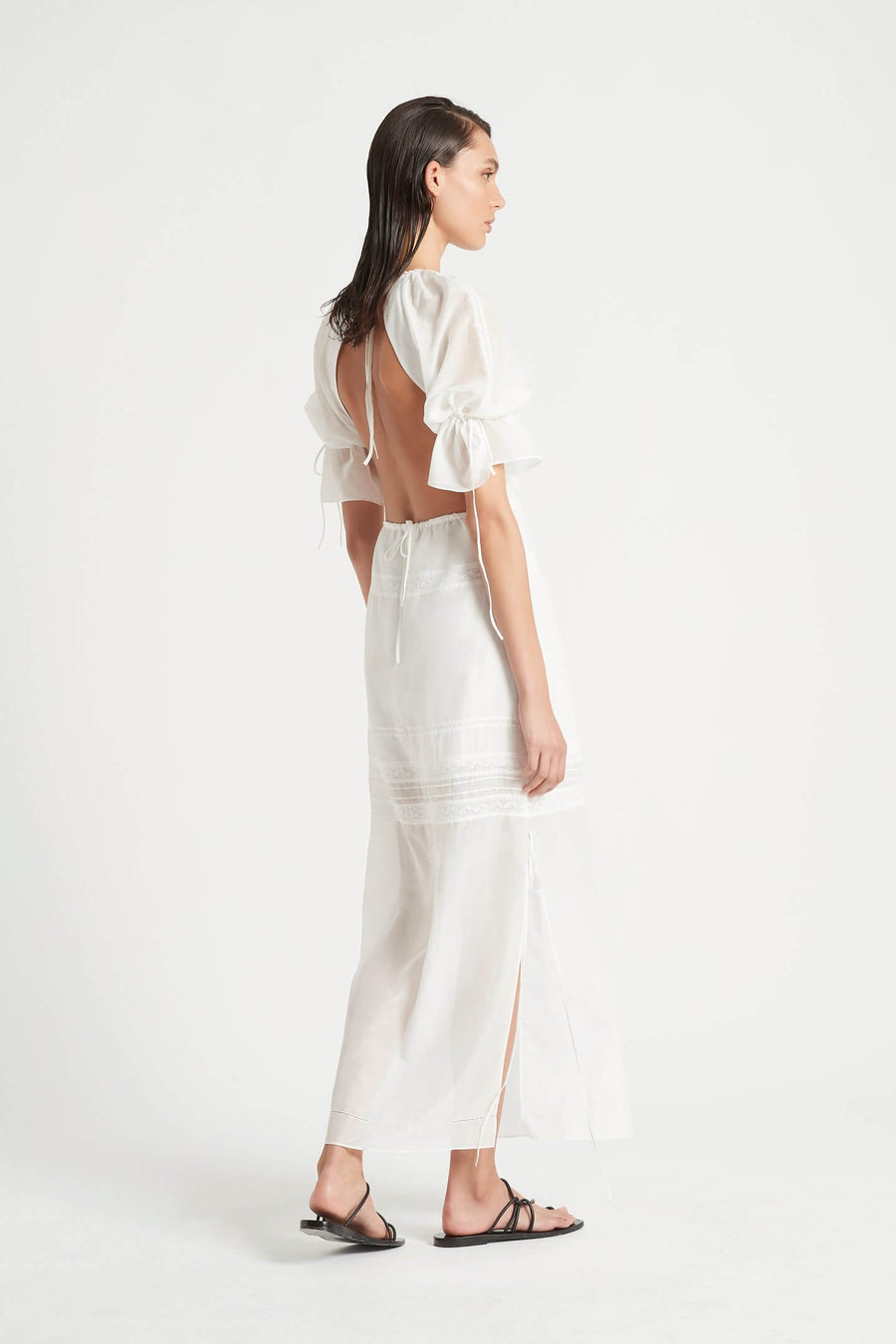 SIR-Maisie-Open-Back-Gown-Womens-Short-Sleeve-Maxi-Dress-White-The-New-Trend