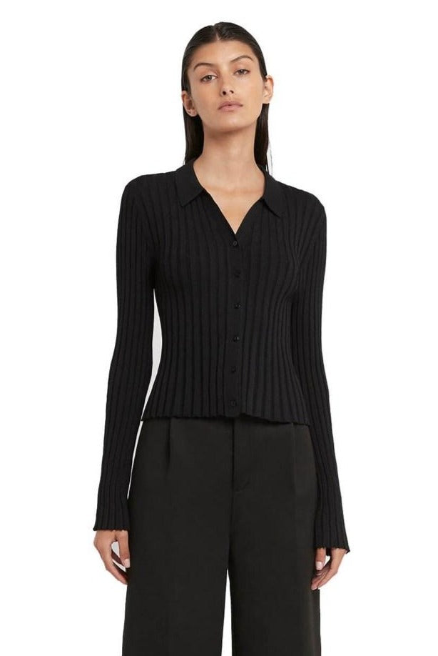 SIR Lucca Women's Long Sleeve Button Up Knit | The New Trend
