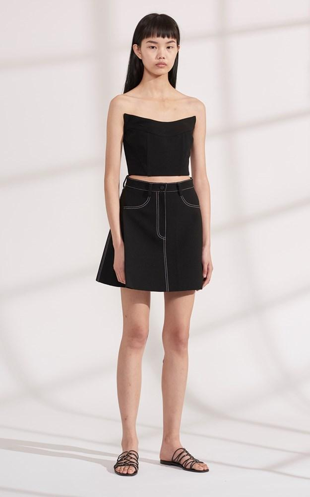 Dion Lee Bonded Crepe Stitch Mini Skirt from The New Trend