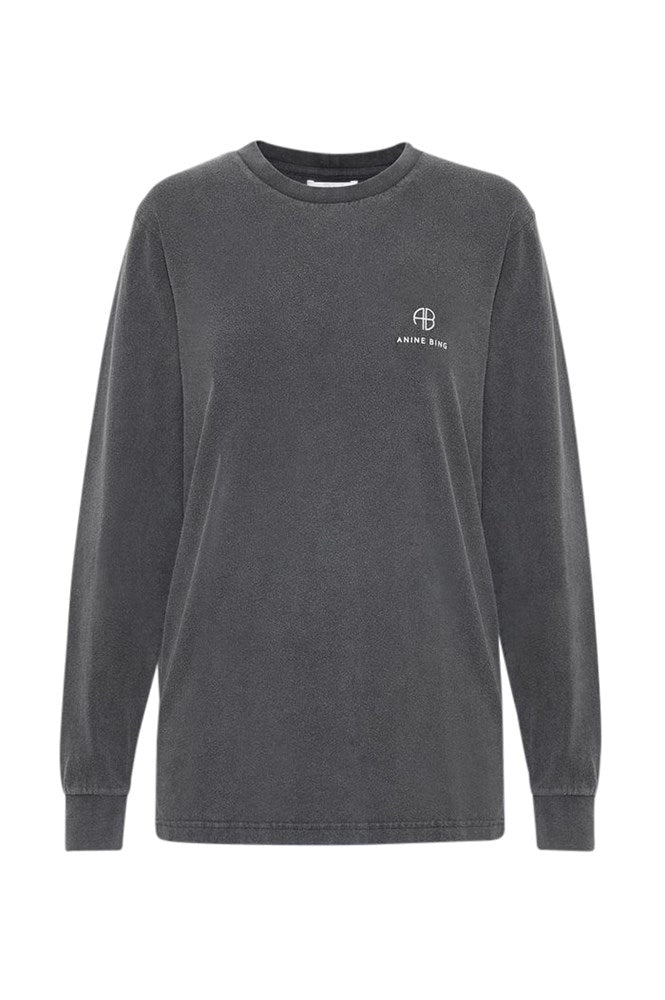Anine Bing Willow L/S Tee Washed Black from The New Trend
