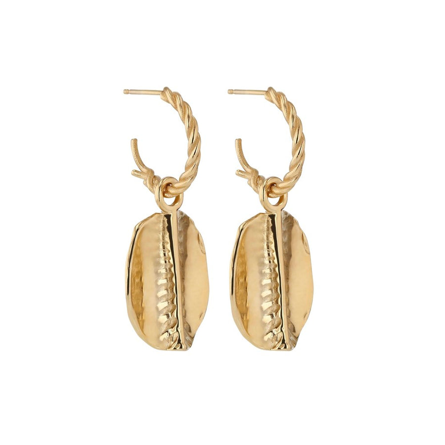 Sarah-Sebastian-Cowrie-Hoops-Yellow-Gold-The-New-Trend