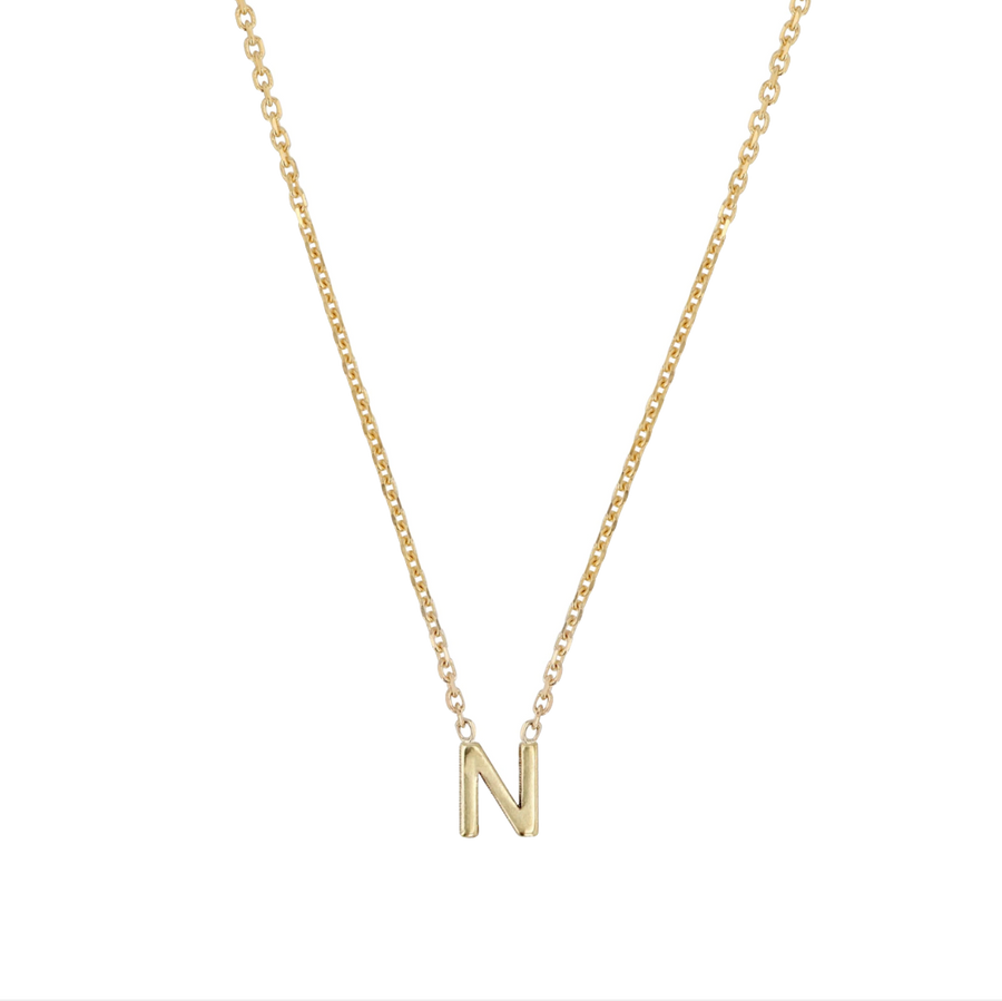 Sarah-Sebastian-Petite-Letter-N-Necklace-Yellow-Gold-The-New-Trend.
