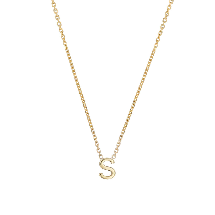Sarah-Sebastian-Petite-Letter-S-Necklace-Yellow-Gold-The-New-Trend